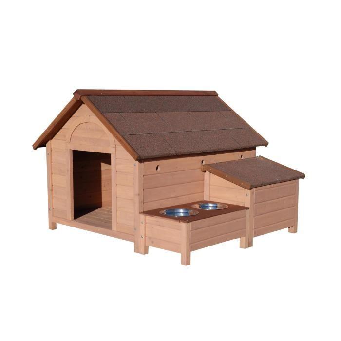 Niche pour chien en bois maxi sherbrook achat vente for Niche chien exterieur