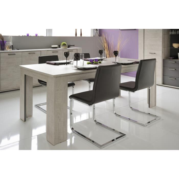 Table de salle manger rectangulaire gris loft gris ombre for Achat table de salle a manger