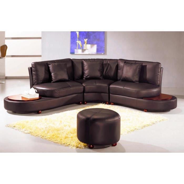 canap d 39 angle en cuir italien 4 5 places revona achat vente canap sofa divan cdiscount. Black Bedroom Furniture Sets. Home Design Ideas