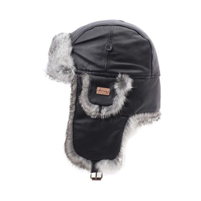 chapka homme cuir fourrure herma noir achat vente bonnet cagoule cdiscount. Black Bedroom Furniture Sets. Home Design Ideas