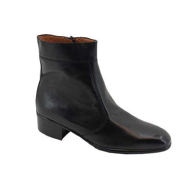 bottine zip homme tanaro cuir noir noir noir achat vente bottine soldes cdiscount. Black Bedroom Furniture Sets. Home Design Ideas