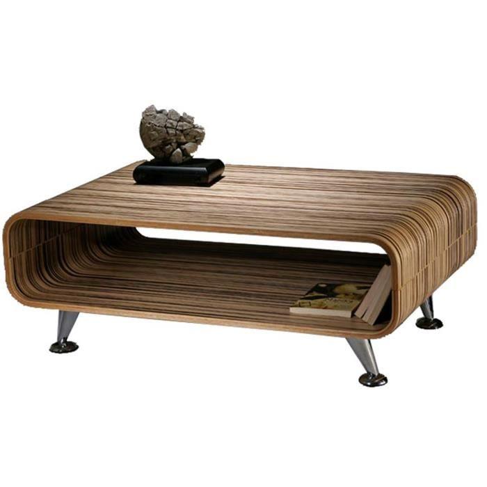 table basse perugia xxl en bois brun zebra h33 achat vente table basse table basse. Black Bedroom Furniture Sets. Home Design Ideas