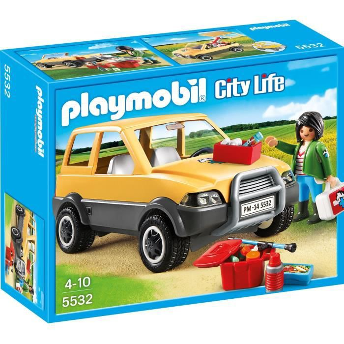 Playmobil 5532 v t rinaire voiture et mat riel achat for Salle a manger playmobil city life