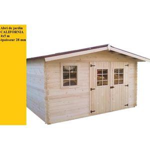 Abri de jardin bois 19m2 achat vente abri de jardin for Abri bois 20m2