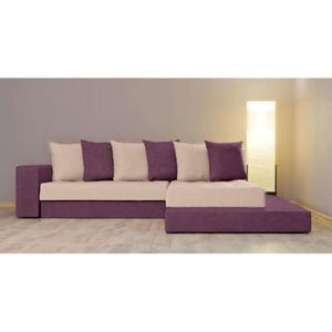 Justhome orkus ii canap d 39 angle l x l 185 x 252 cm for Canape d angle couleur prune