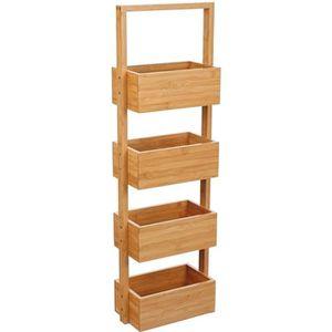 Etagere bambou achat vente etagere bambou pas cher - Sol salle de bain bambou ...