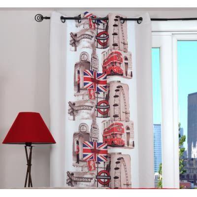 rideau occultant oeillets london transport 13 achat vente rideau 100 polyester soldes. Black Bedroom Furniture Sets. Home Design Ideas