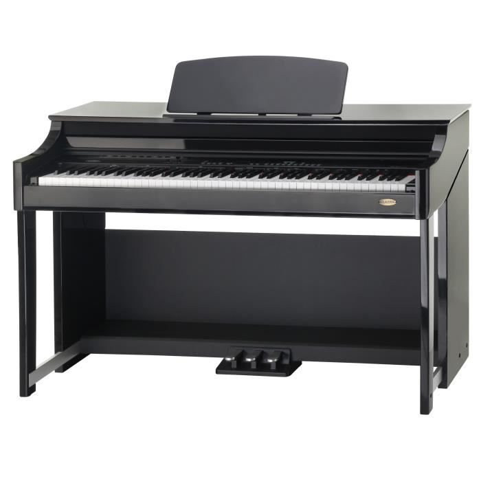 Classic cantabile dp 70 piano electrique noir b achat for Piano electrique