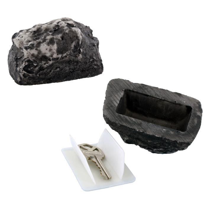 pierre cache cl s ou clef la pierre cachette fut e accessoire s curit pour anti effraction. Black Bedroom Furniture Sets. Home Design Ideas