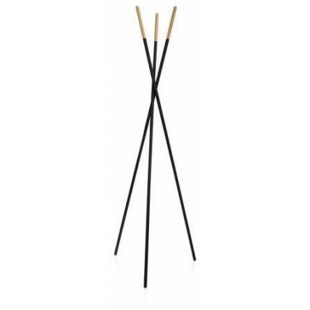 portemanteaux sur pieds en m tal noir et bois n achat vente porte manteau soldes d t. Black Bedroom Furniture Sets. Home Design Ideas