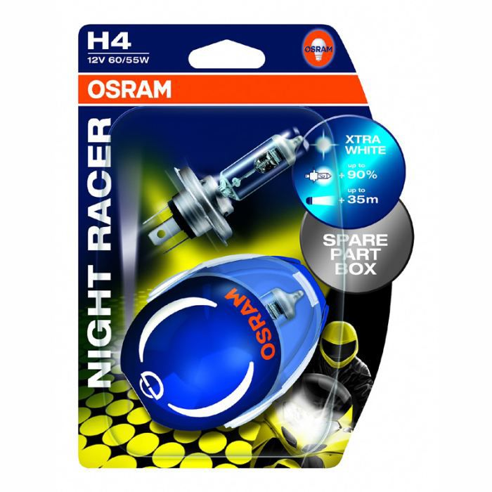 ampoules osram night racer h4 12 achat vente ampoules. Black Bedroom Furniture Sets. Home Design Ideas