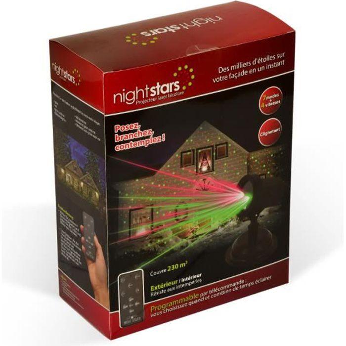 Projecteur laser bicolore nightstars avec t l commande achat vente projecteur laser no l - Laser facade noel ...