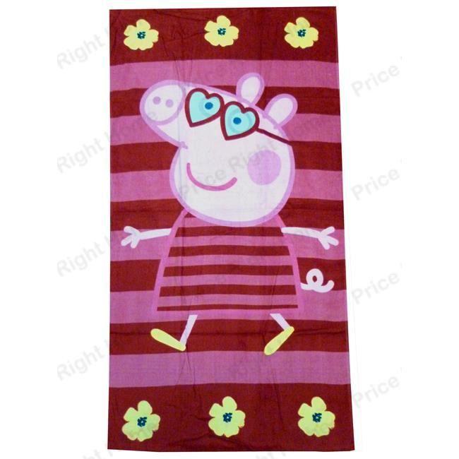 Peppa pig serviette de plage achat vente serviette - Peppa cochon a la plage ...