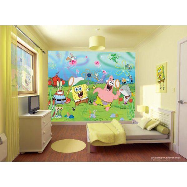 PAPIER PEINT Papier peint mural Bob léponge Walltastic