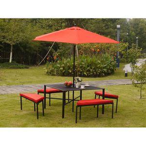 Salon de jardin parasol achat vente salon de jardin - Salon de jardin pas cher cdiscount ...