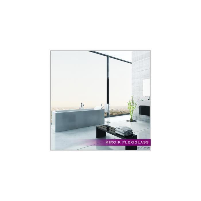 Miroir plexiglass acrylique carr maxi ref mir 201 for Miroir qui s accroche a la porte