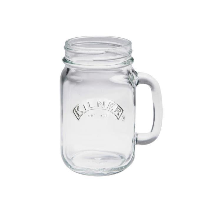 mug pichet en verre anse mason jar pot de confiture. Black Bedroom Furniture Sets. Home Design Ideas