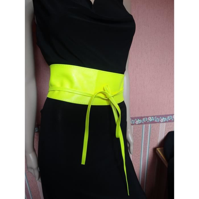 ceinture jaune fluo femme 591a816eb48