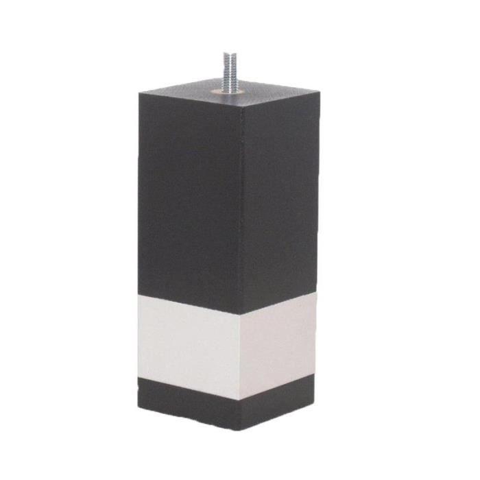 accessoires pieds pieds 15 cm pieds carre achat vente pied de lit cdiscount. Black Bedroom Furniture Sets. Home Design Ideas