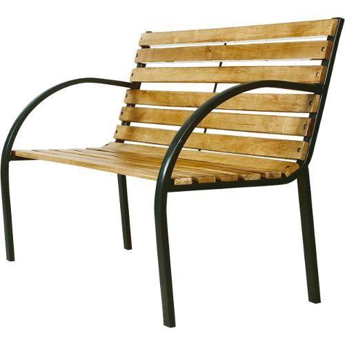 Banc de jardin bois acier achat vente banc bois acier for Banc jardin bois