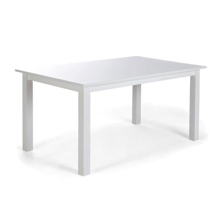 Table manger manacor 150x90 en bois massif blanc massivum achat vente t - Discount table a manger ...