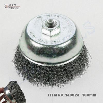 100mm brosse coupe m tallique pour en acier brosse de meuleuse d 39 angle rouille zingu d pose - Brosse metallique meuleuse ...