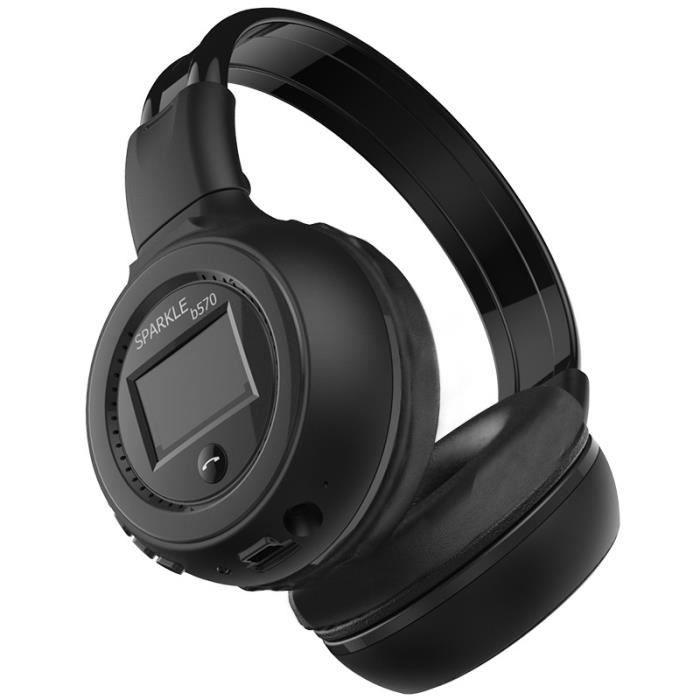 zealot b570 casques bluetooth sans fil avec microphone casque gaming noir casque couteur. Black Bedroom Furniture Sets. Home Design Ideas