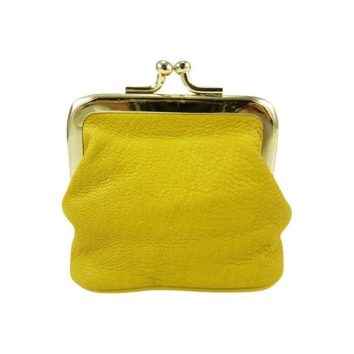 Petit porte monnaie bourse clic clac fermoir jaune jaune achat vente - Clic clac petite taille ...