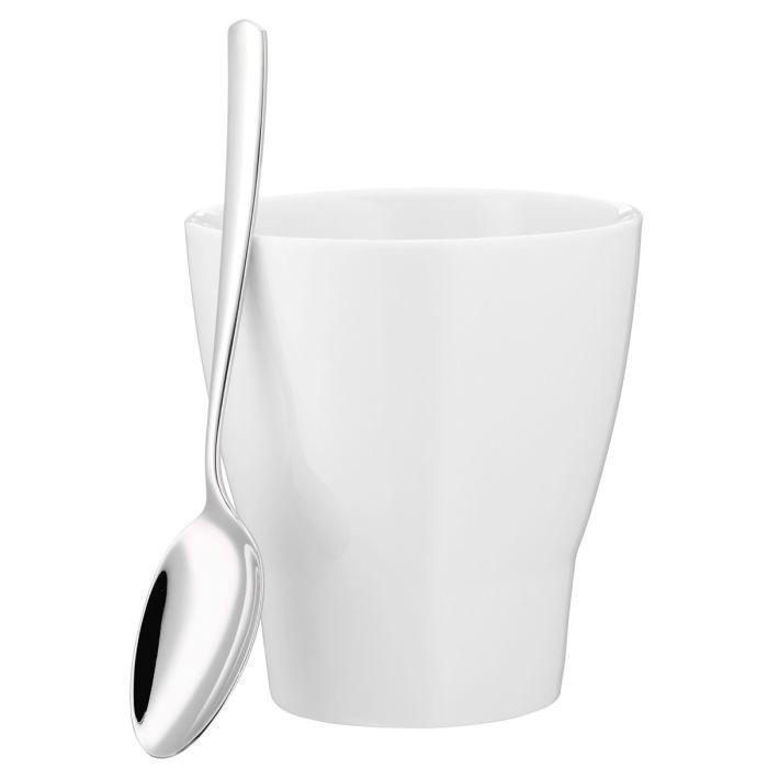 Tasse avec cuillere h 11cm 300 ml achat vente service for 1 cuillere a table en ml