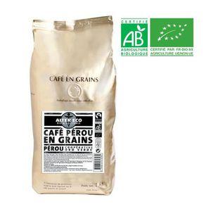CAFÉ - CHICORÉE ALTER ECO Café Pérou 100% Grains Bio 1kg