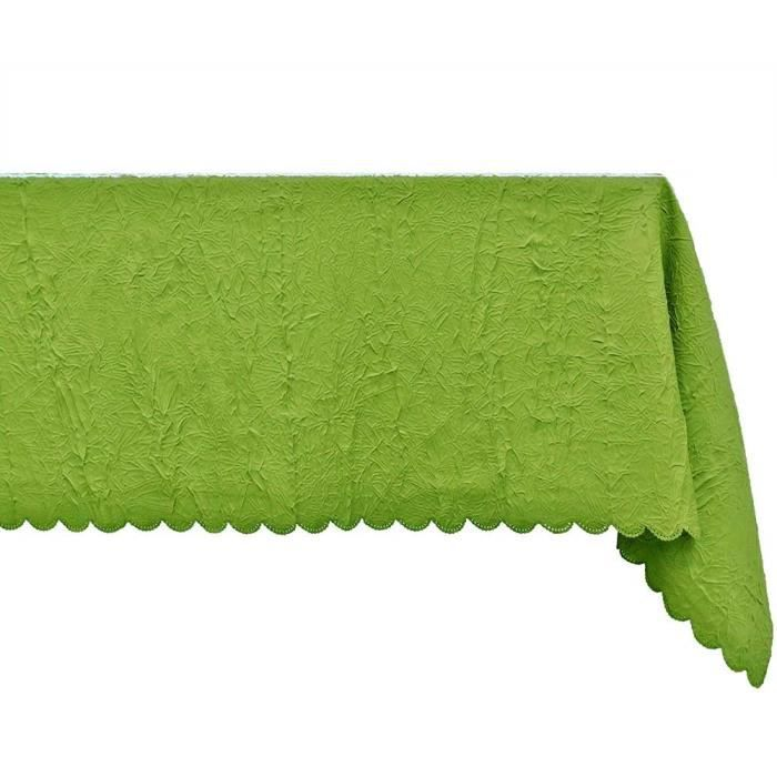 nappe antitache froiss e rectangle 160x250 anis achat vente nappe de table cdiscount. Black Bedroom Furniture Sets. Home Design Ideas