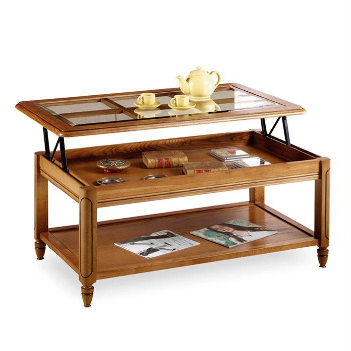 Table basse avec rangement les bons plans de micromonde - Table basse relevable avec rangement ...