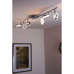 luminaire lustre lampe 6 spots sur rail led plafon achat. Black Bedroom Furniture Sets. Home Design Ideas