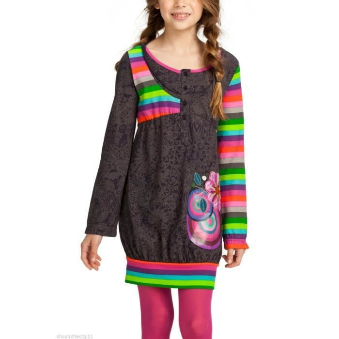 nouveaut s 2015 robe enfant fille desigual narciso rose achat vente robe cadeaux de no l. Black Bedroom Furniture Sets. Home Design Ideas