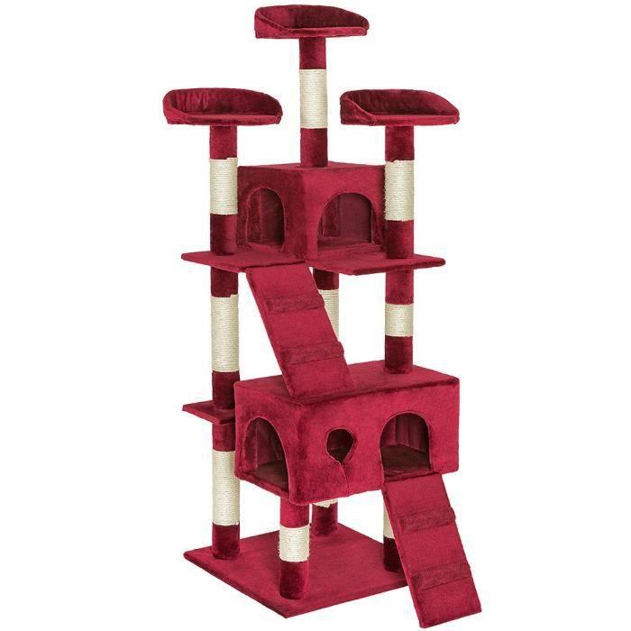 arbre chat 170 cm mogli bordeaux griffoir grattoir tronc tectake achat vente arbre. Black Bedroom Furniture Sets. Home Design Ideas