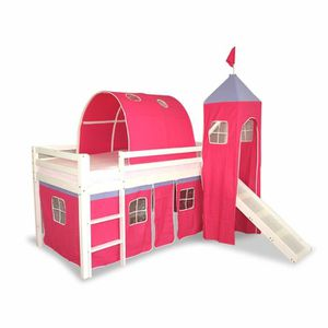 rideaux lit mezzanine achat vente rideaux lit mezzanine pas cher cdiscount. Black Bedroom Furniture Sets. Home Design Ideas