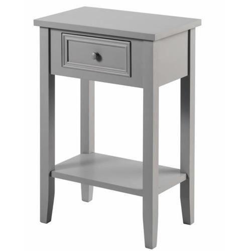 Table de chev t charme 1 tiroir taupe achat vente - Table de chevet taupe ...