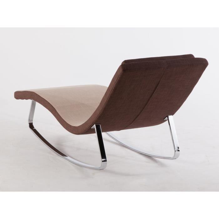 m ridienne chaise longue en tissu avec pi tement en m tal sensual beige achat vente. Black Bedroom Furniture Sets. Home Design Ideas