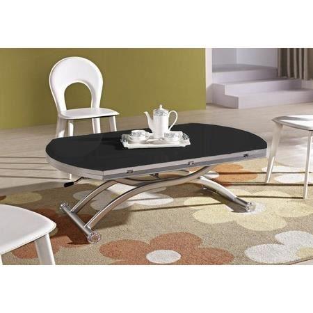 Table basse relevable venezia finition verre noir achat - Table basse relevable cdiscount ...