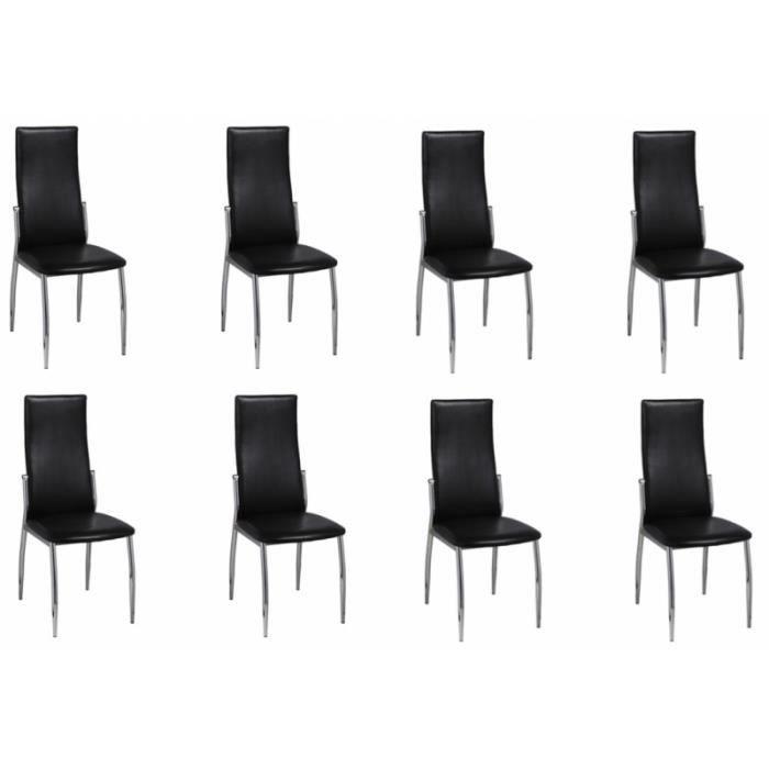 8 chaises de salle a manger noires 1902304 achat vente for 8 chaises salle a manger