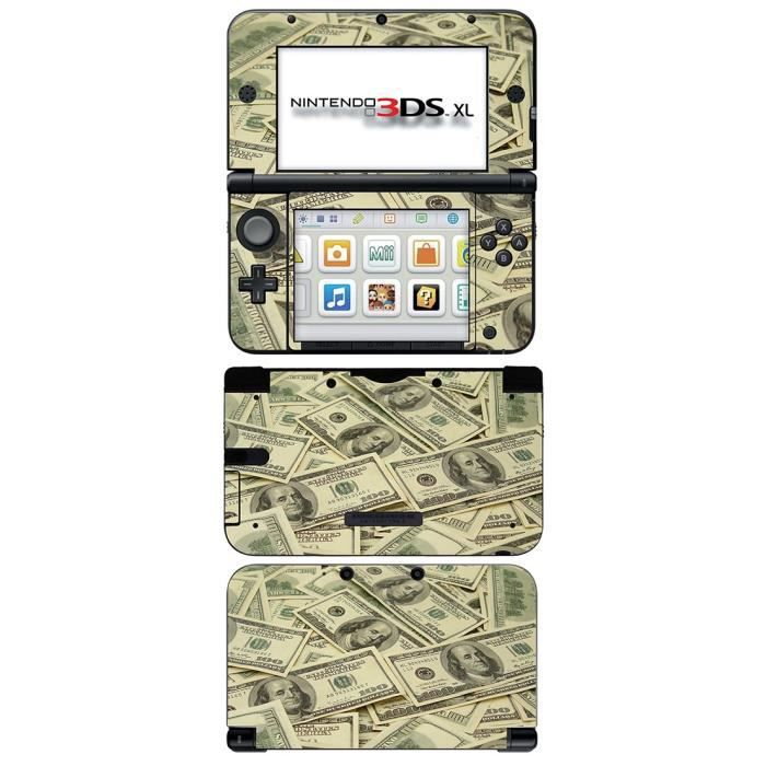 skin stickers pour nintendo 3ds xl sticker dollar. Black Bedroom Furniture Sets. Home Design Ideas