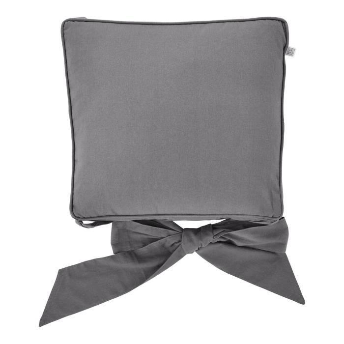 Galette de chaise 21 java gris fonc achat vente - Galette de chaise avec rabat ...