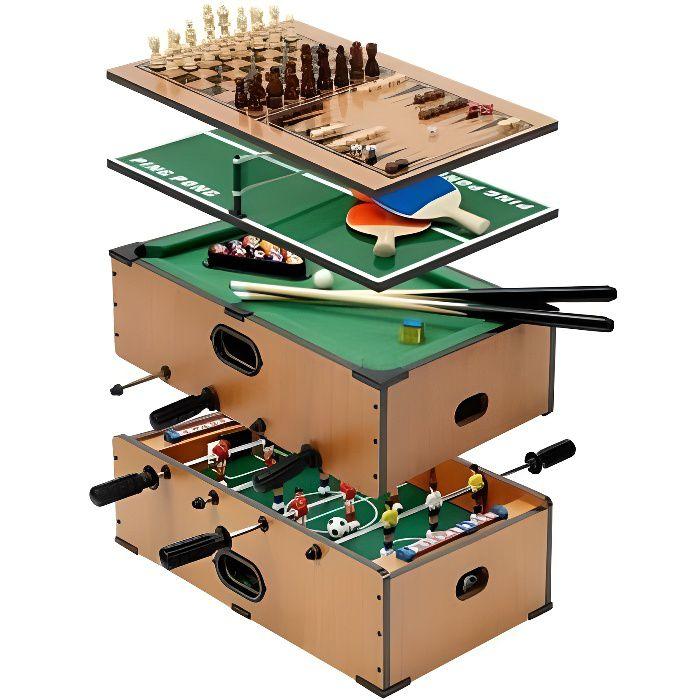Jeux de table 5 en 1 achat vente table multi jeux jeux de table 5 en 1 - Table multi jeux 5 en 1 ...