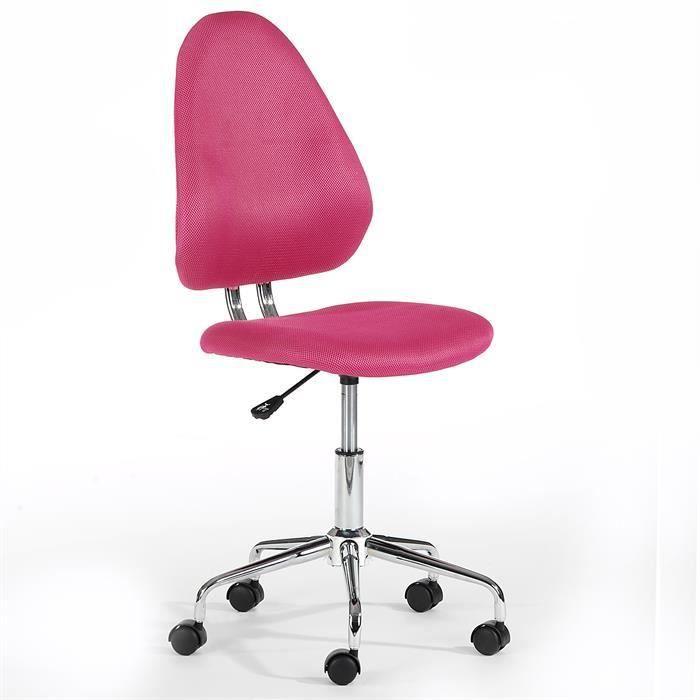 Fauteuil de bureau pour enfant elias rose achat vente - Chaise de bureau pour enfant ...