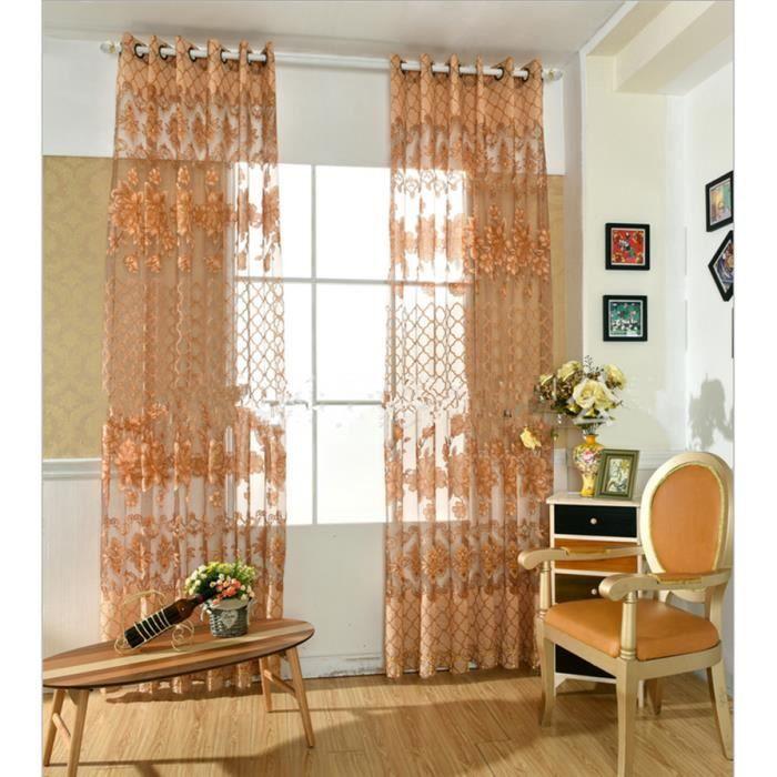 2017 nouvelle europe brod tulle fen tre rideaux pour for Decoration maison rideaux fenetre