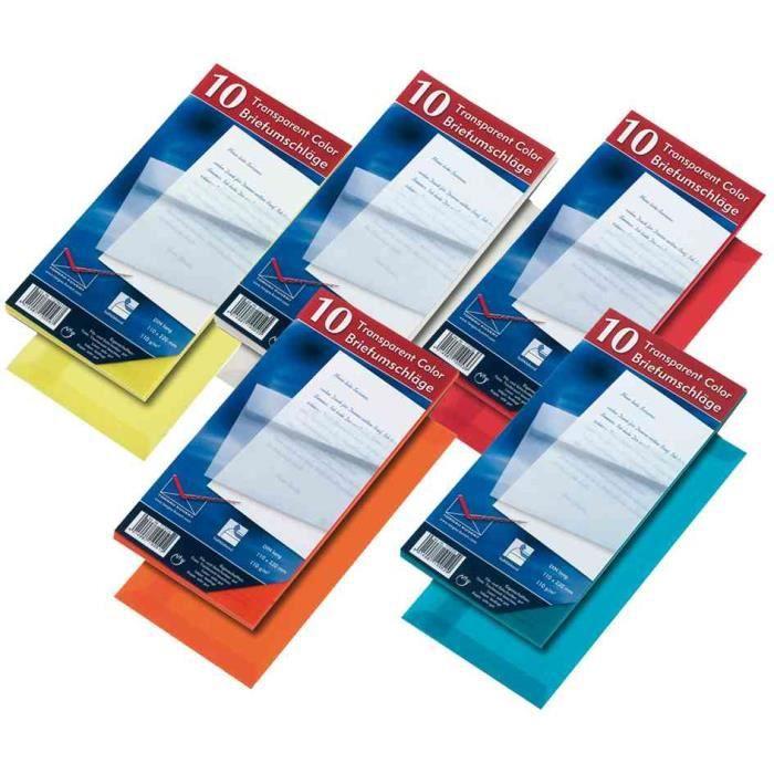 Enveloppe dl rouge transparent sans fen tre achat for Enveloppe sans fenetre