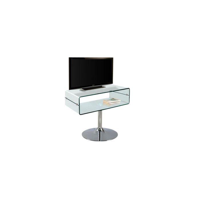 Meuble tv pure achat vente meuble tv meuble tv pure verre cdiscount - Meuble tv minimaliste ...