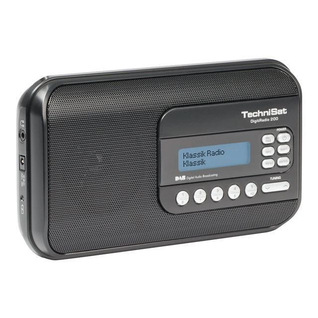 radio dab portable noir technisat digitradio 200 radio. Black Bedroom Furniture Sets. Home Design Ideas
