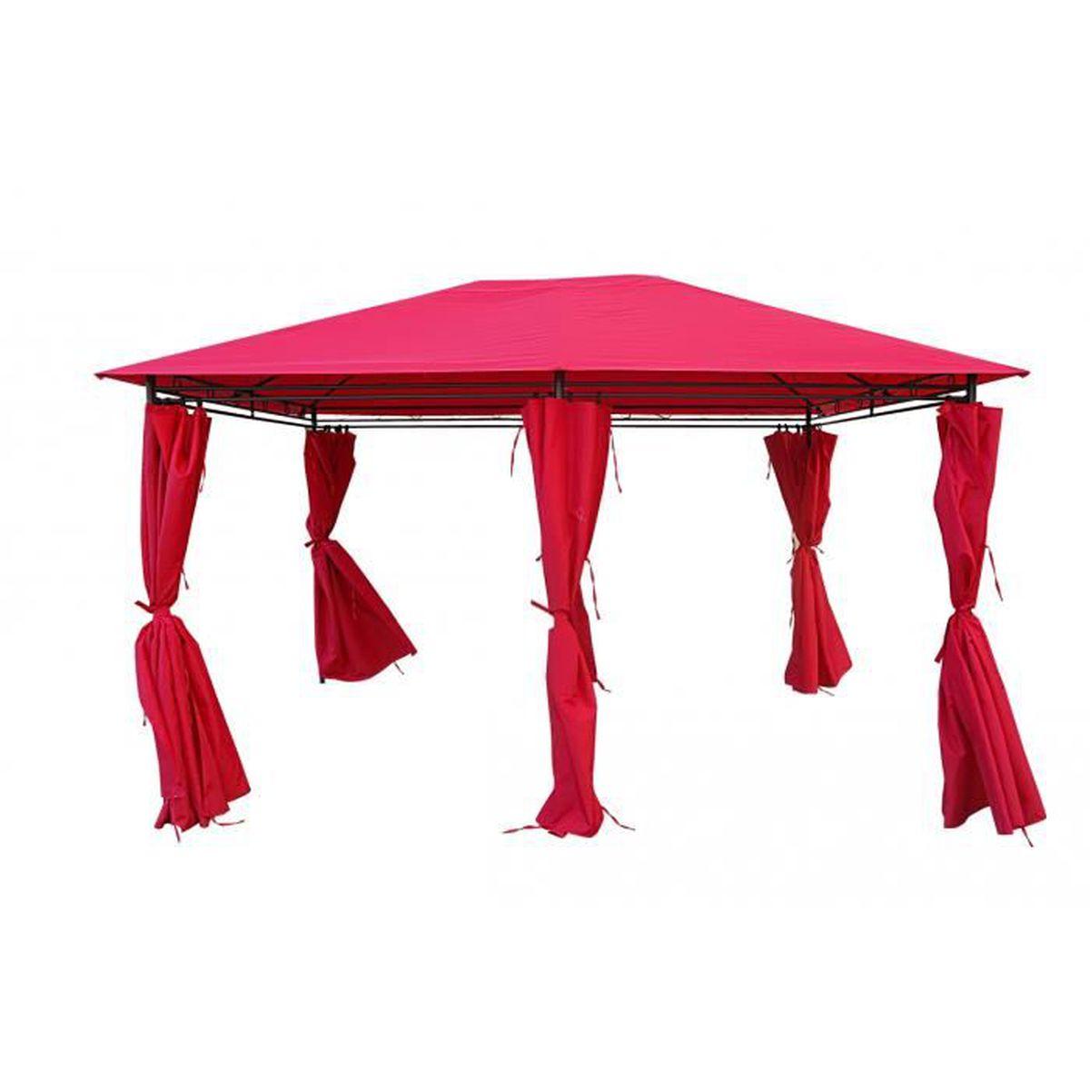 Matmata Tente De Jardin Pergola 3x4m Rouge Tonnelle Barnum Achat Vente Tonnelle Barnum