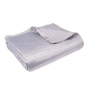 jete de lit satine achat vente jete de lit satine pas cher cdiscount. Black Bedroom Furniture Sets. Home Design Ideas